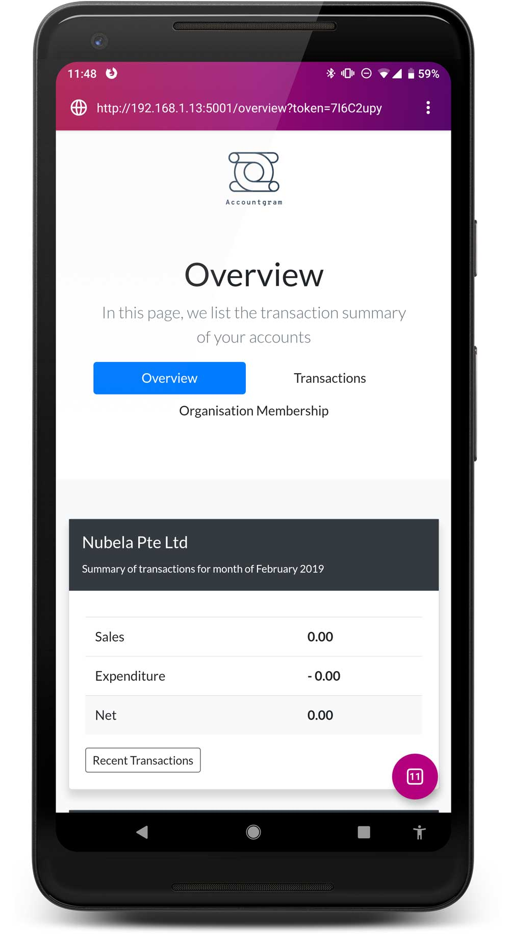Transactions Overview
